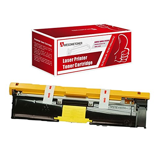 Awesometoner Compatible 1 Pack Toner Unit For QMS 2500 Y 1710587-005, Konica Minolta QMS Color Magicolor 2500W, 2530DL, 2550 High Yield Yellow 8000 Pages
