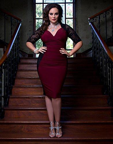 Kiyonna Women's Plus Size Valentina Illusion Dress