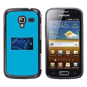 NFL Panther - Metal de aluminio y de plástico duro Caja del teléfono - Negro - Samsung Galaxy Ace 2