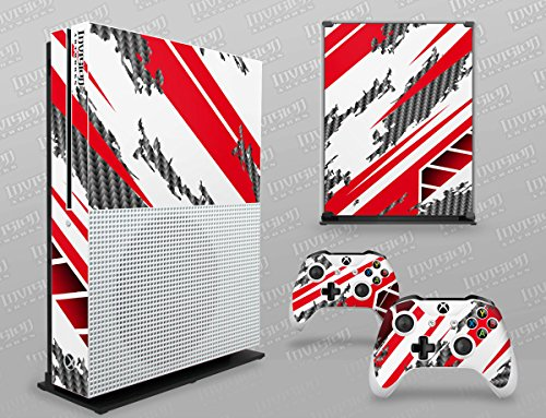 Price comparison product image Xbox One S Decal Graphics Cover Ð Racer-X - White & Red