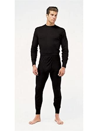 Mens Merino Wool Blend Thermal Underwear 2pc Set Black Sizes S-xxl ...