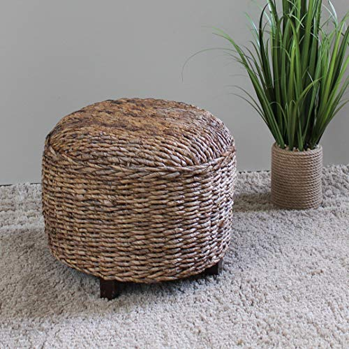 (MISC Rattan Footstool Woven Wicker Rustic Decoratie Cube Wooden Storage Furniture Ottoman Stool Foot Table Natural Wood Footstools)