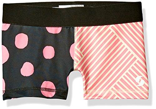 Soffe Big Girls' Dri Short, Big Dot/Criss Cross Pink, - Girl Large Dot