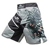 SOTF Boxing Shorts for Men Print MMA BJJ Shorts for Sparring Fight Training