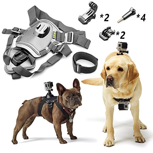 DeKaSi Adjustable Dog Harness Chest Mount for GoPro HERO4 Session /4 /3+ /3 /2 /1 and SJ4000 SJ5000 SJ6000 Sports