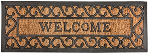 Esschert Design RB169 Long Welcome Rubber & Coir Doormat (Doormats Long)
