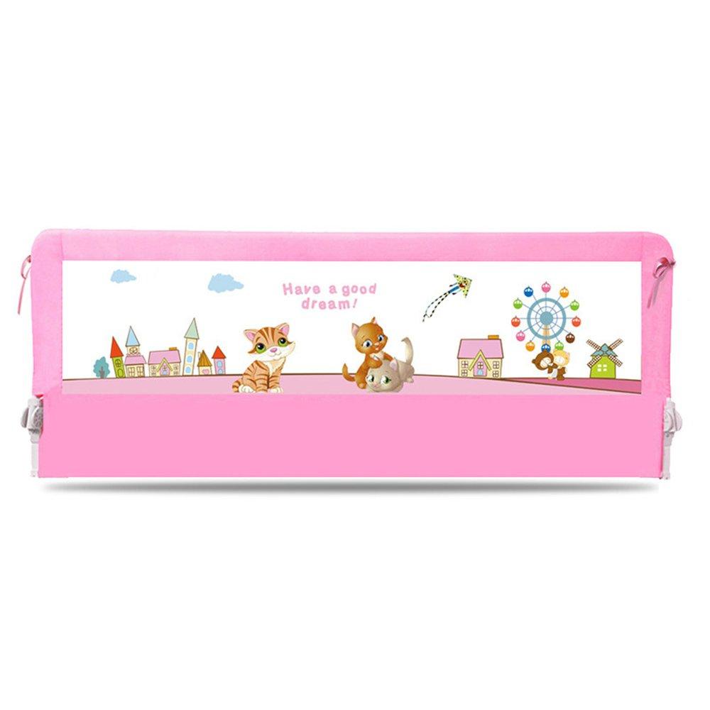 YNN ベッドベッドサイドバッフル150/180/200cm大きなベッドユニバーサルベッドレールを防ぐための子供用ベッドガードレールフェンス (色 : Pink, サイズ さいず : 200cm) 200cm Pink B07FHY9WVQ