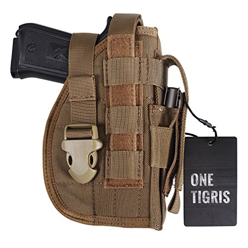 OneTigris Molle Belt Holster for 1911 45 92 96 Glock (Tan - Right Handed)