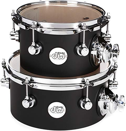 DW Design Series Concert Tom Set with Mount 8/10 Inch Black Satin by DW