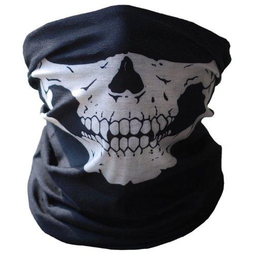 Bestpriceam Bicycle Ski Skull Half Face Mask Ghost Scarf Multi Use Neck Warmer COD