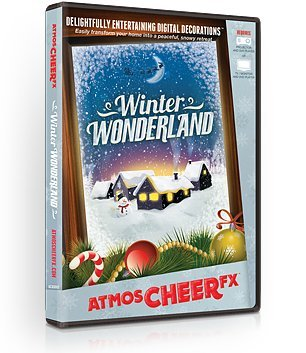 AtmosFX Winter Wonderland Digital Decorations DVD for Winter and Christmas Holiday Projection Decorating -