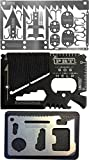 Survival MultiTool Card (3 TOOL PACK) Bug Out Bag CampingTool: 3 Best Multi tools for Camping and Wilderness Survival Preppers Gear; Fishing Camping Hiking Hunting Emergency Kit: Lifetime Guarantee