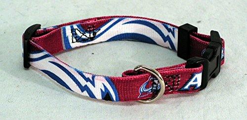NHL Colorado Avalanche Adjustable Pet Collar, Team Color, Small