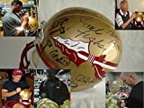 Coach Bobby Bowden Coach Jimbo Fisher Charlie Ward Chris Weinke Jameis Winston Signed / Autographed Florida State Seminoles Full Size Replica Football Helmet