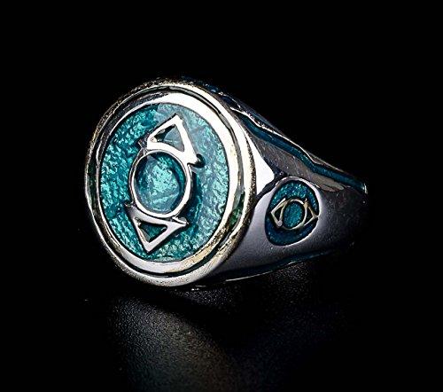 Indigo Tribe Lantern Ring Sinestro Corps Power Ring Purple Enamel 925 Sterling Silver