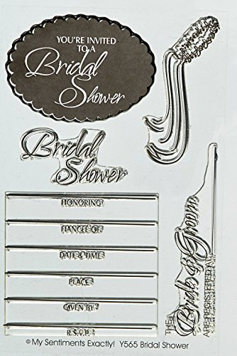 "MSE Bridal Shower My Sentiments Stamps Sheet, 4 by 6"", Clear"