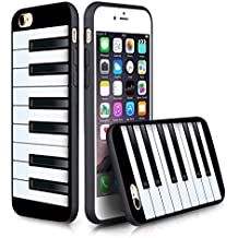 Apple 6/6S Case iPhone 6S (4.7 inches) Black Case TPU- The piano keys