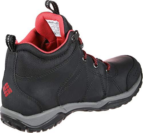 Mujer De Fire Waterproof Zapatillas Negro para Venture Mid Columbia para Exterior Deporte Leather fPpRfx