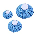 Koo-Care Ice Bag Hot & Cold Reusable Ice Pack, 3 Pack[11'', 9'', 6''] (Blue/White checkered)