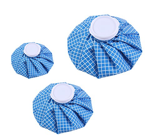 Koo-Care Ice Bag Hot & Cold Reusable Ice Pack, 3 Pack[11'', 9'', 6''] (Blue/White checkered) by Koo-Care