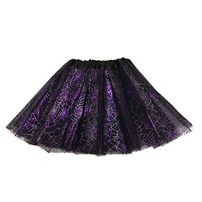 Rush Dance Ballerina Recital Halloween Purple & Black Spider Webs Costume Tutu: Toys & Games