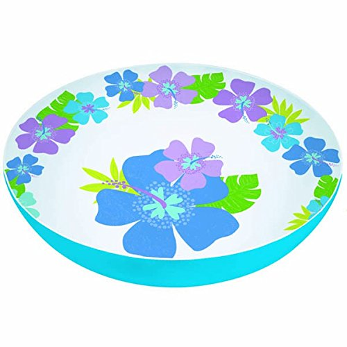 Hibiscus Flower Bowl - Floral Paradise Cool Summer Party Round Hibiscus Bowl Tableware, Melamine, 11