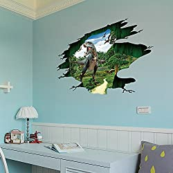 Teresamoon 3D Dinosaur Floor Wall Sticker Room Decor