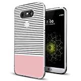 phone cases for a lg slide phone - Gifun for LG G5 Case Stripes,Gifun [Anti-Slide] and [Drop Protection] Soft TPU Premium Flexible Protective Case Compatible with LG G5 - Minimal Stripes