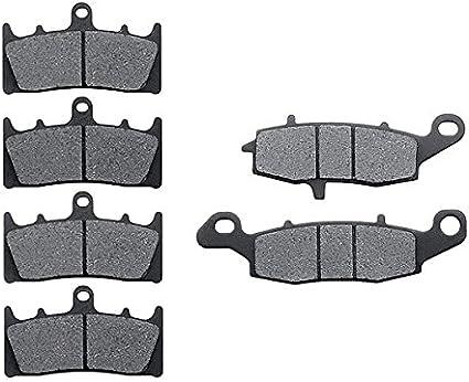 Non-Metallic Organic NAO Brake Pads Set KMG Front Rear Brake Pads for 2002-2003 Kawasaki VN 1500 Vulcan Mean Streak