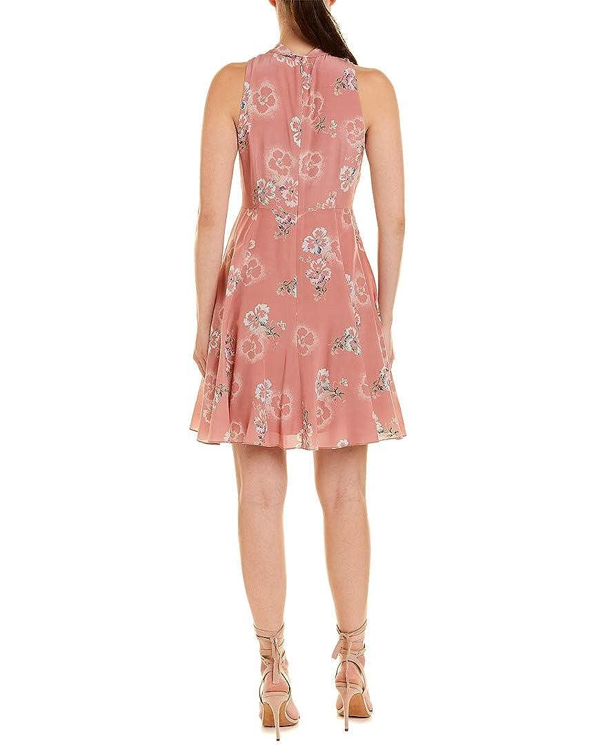 6ebc02675ccb3 Amazon.com  Rebecca Taylor Womens Faded Knot Silk A-Line Dress