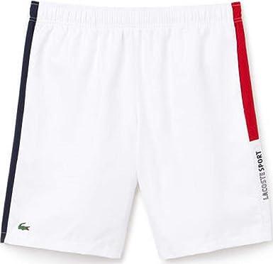 edcf20f872f7 Amazon.com  Lacoste Sport Colored Bands Taffeta Tennis Shorts (Medium)   Clothing