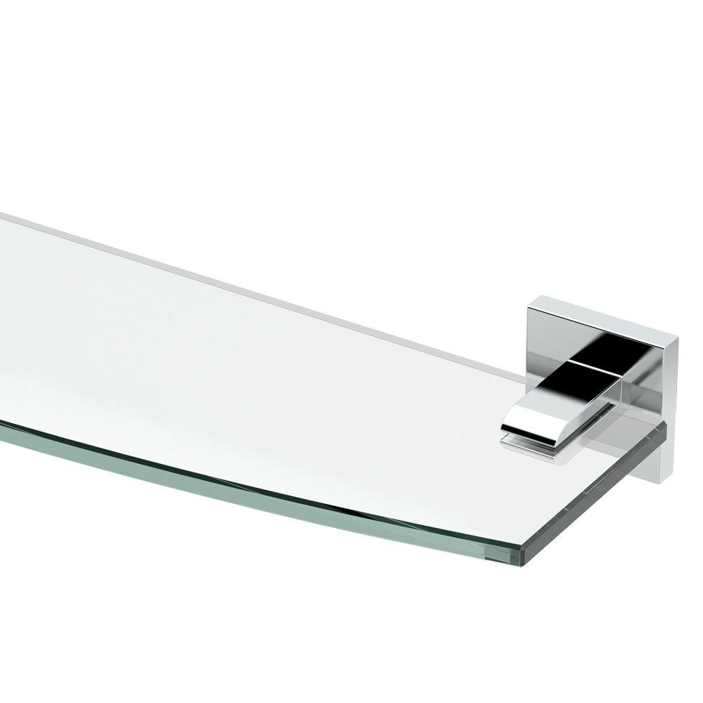 Gatco 4056 Elevate Glass Shelf, Chrome