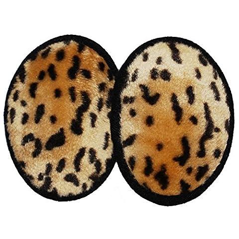 Luxurious Faux Fur Ear Mitts Bandless Ear Muffs 100g Thinsulate™ Insulation & DuPont™ Teflon® (Black/Brown/Leopard/Ocelot) (Regular, - Ocelot Faux Fur