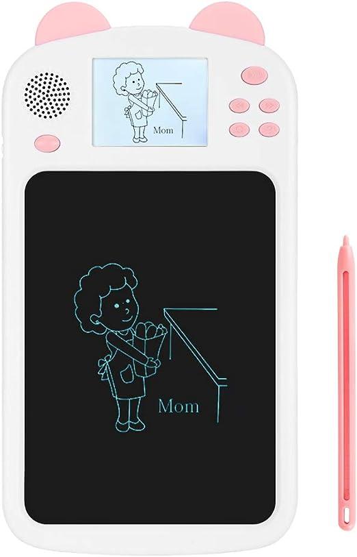 疲労のない環境にやさしい絵画ブルーライトなしファインポリッシング子供たちの描画タブレット、LCDライティングボード、絵画学習ホームキッズ(Pink)