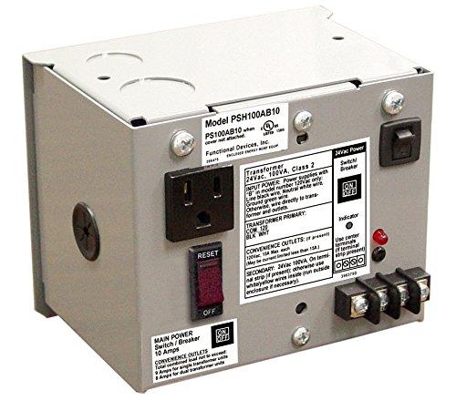 Enclosed Single 40VA 120 to 24Vac UL class 2 power supply