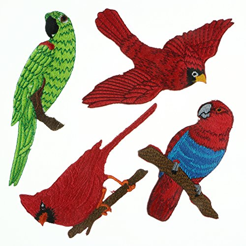 Set of Birds Embroidered Iron/Sew on Patch (A-1) Bird Embroidered Iron
