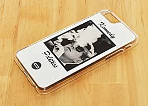 1888998137606 [Global Case] EE.UU. JFK Kennedy Política Cigarro Cuba Crisis Cubana Blanco y Negro VIntage Fresco Presidente Estados Unidos América Legado (NEGRO FUNDA) Carcasa Protectora Cover Case Absorción Dura Suave para Samsung Galaxy S Advance I9070