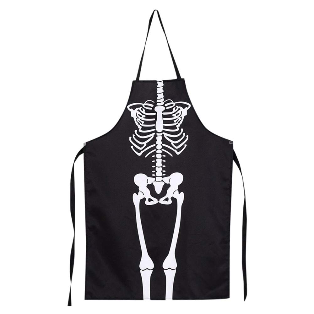 Lovewe 1PCS Kitchen Cosplay Horror Chef,Halloween Skeleton Apron Costume Party Supplies