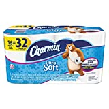 """Health & Personal Care : Charmin 94045  PGCCT Ultra Soft Bathroom Tissue, 2-Ply, 4"""" x 3.92"""", White, 154 per Roll, 16 Roll per Pack (Pack of 16)"""