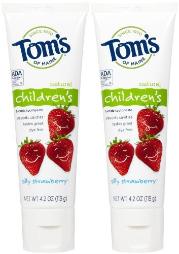 Tom's of Maine Anticavity Fluoride Children's Toothpaste - 4.2 oz - Silly Strawberry - 2 pk - Kids Silly Strawberry