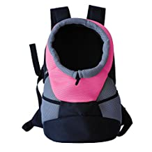Pet Life On-The-Go Supreme Travel Bark-Pack Backpack Travel Pet Dog Carrier, Pink, One Size