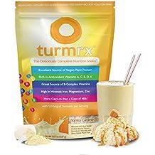 turmrx® - Nutritious Vegan Weight Loss Shake + Turmeric, Antioxidants, Vitamins & Calcium (Vanilla Caramel)