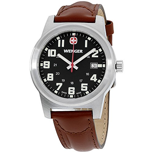 Wenger-Field-Classic-Black-Dial-Leather-Strap-Mens-Watch-62917