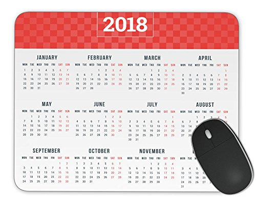 Calendar for 2018 year Mosue Pad Gaming mouse pad Non-slip mouse pad