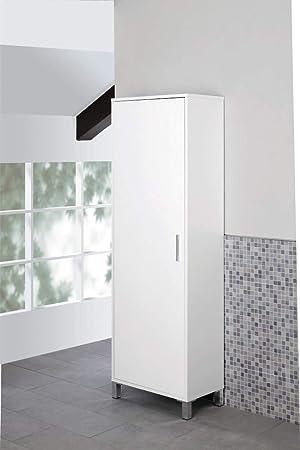 FERIDRAS World Column Wardrobe, White, 35 x 40 x 170 cm