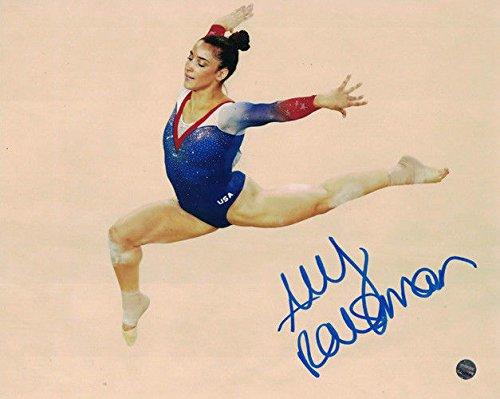 Aly Raisman Autographed/Signed USA Gymnastics Olympics 8x10 Photo Steiner