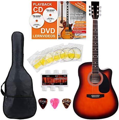 Classic Cantabile guitarra acústica con pastillas set principiante ...