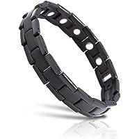 Magnetic Therapy Bracelet Magnetic Bracelet Men's Bracelet Titanium Bracelet Fashion Bracelet Non-allergic (21cm)