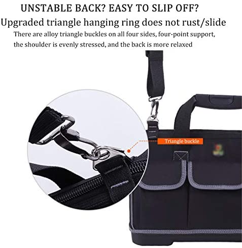 CXYY Waterproof Tools Bag with adjustable shoulder strap, multi-purpose and wear-resistant rubber base,20 inches