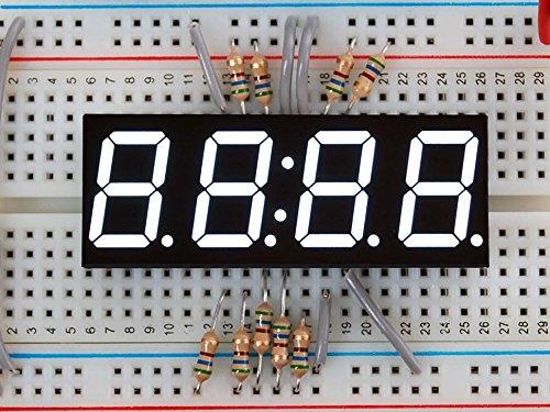 Adafruit White 7-segment clock display - 0.56 digit height [
